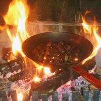 Chataignes au feu de bois