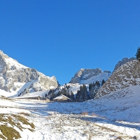 Les chalets d'Oche en hiver