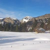 Une ferme l'hiver